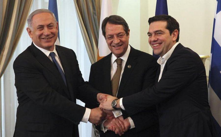 ВИерусалиме состоялась трeхсторонняя встреча лидеров Израиля, Кипра иГреции
